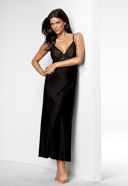 Elegant Sparkle NDW 01 czarny | Bielizna nocna Koszule nocne